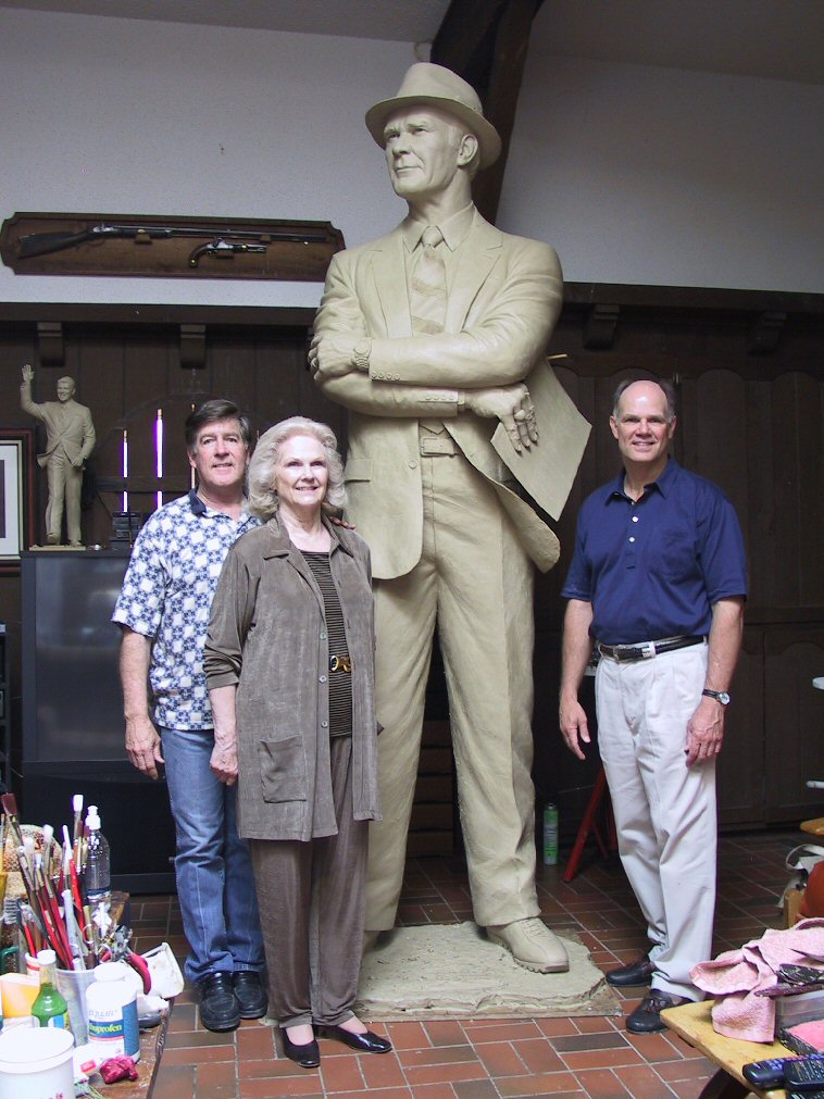 Tom's Wife and Son with Bob Summers at Summers Studio
